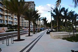 Beachfront walkway near houses for sale in Pompano Beach, FL